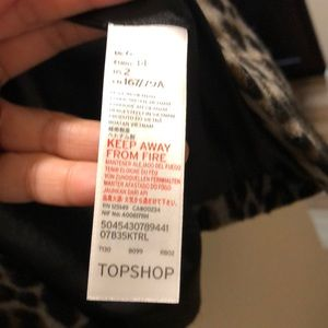 Topshop Jackets & Coats - Top shop wool blended Leopard coat